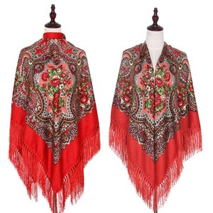 scarves Super large 160cm ethnic style Xinjiang shawl tourist rayon twill cotton Liusu square scarf