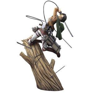 Attacco su Titan Levi Eren Bambola dei cartoni animati PVC 25cm confezionati in scatola figurina giapponese figurina figura per Kid Anime Collection X0522