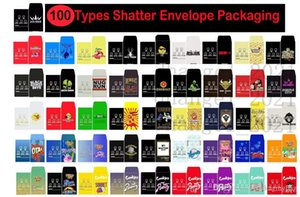 100 Types Shatter PAPER Envelope Packaging Assorted Strain Slim Shatter Packs Wax Concentrate Packaging SD card Custom Coin Packs