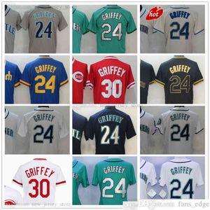 2022 прошитый бейсбол 24 Кен Гриффипс трикотажные изделия Серый серый черный золотой красный синий джерси белый зеленый для мужчин Женщины пустые нет
