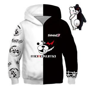 Kids Anime sweatshirts hoodies Dangan Ronpa Danganronpa monokuma White Black Bear cosplay costume College clothing Top