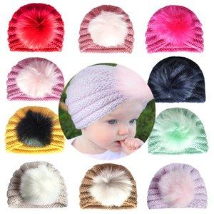 NUEVO otoño invierno para niños cálido tapa de lana cálida protección cabeza cabeza cabeza tapa de lana bebé 736 v2