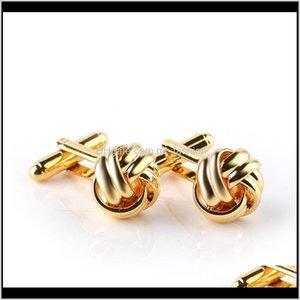 & Tie Clasps, Tacks Jewelry Drop Delivery 2021 Men Boutique Cuff Links Metal Twist Cufflinks Cufflink Fashion Man And Women Shirts 48O2X