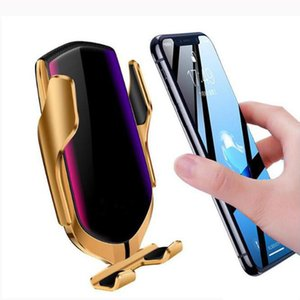 Automatic Clamping Car Wireless Charger 10W Quick Charge for 11 Pro XR XS Huawei P30 Pro Qi Infrared Sensor Phone Holder