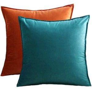 Nordic velvet lock sofa cushion living simple solid color model room case family pillow