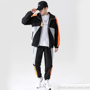 Autumn and Winter Men Mans Autumn Clothing Suit 2020 Fashion Brand Ins Street Slim-Fit Hood Men Mans Casual Sports Jacket Trousers