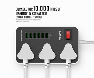 Sockets Overseas exclusively for 6USB Hong Kong version of British regulatory board household multi-function smart plug-in board, safe and durable