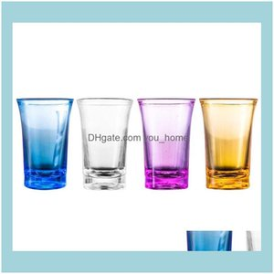 Glasses Drinkware Kitchen, Dining Home & Garden35Ml Acrylic Party Ktv Wedding Game Whiskey Vodka Bar Club Beer Wine Gift S Glass Cup T3I5167