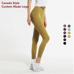 Womens Leggings Good Fitness 20 Firmati Leggings Canda Gym Colors Sport Elastic Femmes Style Align Fabric Professional FXH032C Hwfrd