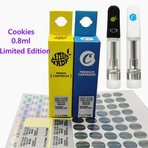 Biscotti Vape Cartridge Edition Limited Edition Imballaggio Premium Cartridges vuoto per atomizzatori di olio spessa 510 filettatura vaporizzatore a penna carrello 0.8ml 1.0ml ceramica bobina ecigarette