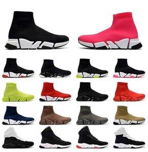 Arrival Plateforme Chaussette Chaussures Casual Casual Plat Paris 2.0 Base-baskets Hollows Baskets Mocassins Mens Femmes Luxurys Socks Bottes