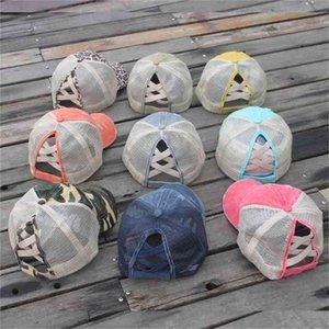 2021 Patchwork de verano Unisex Lavado Béisbol Cap Visor Fasdhion Outdoor Beach Viajes Mujeres Sol de Hombres Sombreros Sombreros Caps G34ltPo