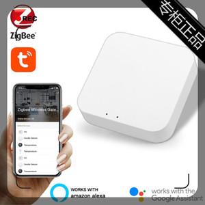 Умный домашний контроль 5V / 1A Tuya Zigbee Bridge Gateway Удаленные устройства Hub Via Life App работает с улучшением интеллекта Alexa