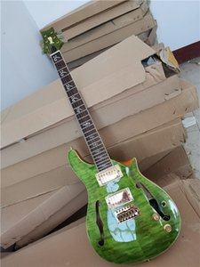 In stock Green Body Rosewood Fingerboard Electric Guitar with Golden hardware,3 pickups,can be customized