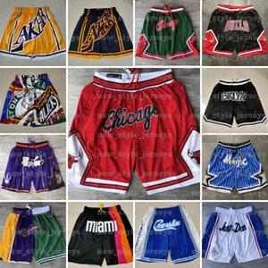Short de basket n Just Don Throwback Stitched Face Mesh pockets mitchell ness Stitched Pantalones de baloncesto Men Woman z61