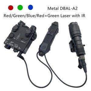 Tactical Airsoft Flashlight DBAL A2 Red / Blue / Green Лазерный ИК Лазерный Белый Свет с Стробной версией Оружие Металл DBAL-A2 Light 210322