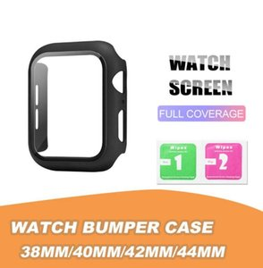 Matte Hard Watch Case with Screen Protector for Apple iwatch Series 5 4 3 2 1 Full Coverage 38 40 42 44mm