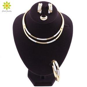 Principales productos básicos de importación: Cuentas nupciales de las mujeres africanas Juego de joyas Conjunto de joyas Accesorios Accesorios Pendientes Pulseras Collares Anillos 3 colores