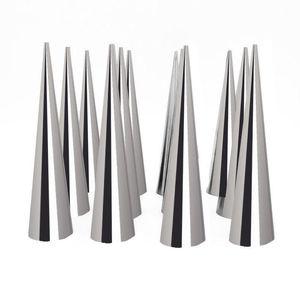Panking utensili da forno 12pcs tubo conico di alta qualità cono rotolo stampi in acciaio inox a spirale croissant stampi crema corno torta pane stampo