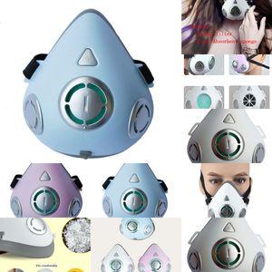 Fashion Mask Electric Riding Breathing Smart Valve Mask Anti-fog Haze Anti-smoke Electric Anti-pm2.5 Air Purifier Mask 4QCH6