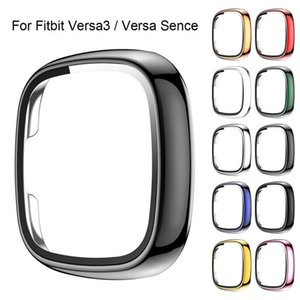360 Full Cover Tempered Glass for Fitbit versa3  fitbit sense PC Frame tempered glass Screen Protector for Fitbit versa 3