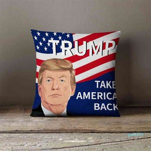 7Colors linen cushion cover trump 2024 throw pillow case US flag independence day gifts party home sofa car pillowcases pillowcase pillowsli