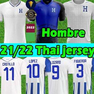 2021 2022 República de Honduras Jerseys de futebol Republica 11 Castillo 6 Garcia Jerseys 9 Lozano 7 Izaguirre 13 Caras 21/22 Hombre Camisetas de Fútbol Futebol Camisa