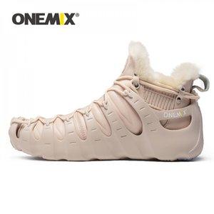 Оремикс зимние ботинки для женщин розовые ходьбы обувь открытый треккинговые туфли без клей кроссовки осень сохраняют теплые тройные