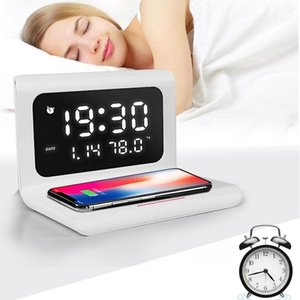 Creatives Wireless Phone Charging Station With Digital Alarm Clock Multifunctional Charger Pad For TN99 Other Clocks & Accessories
