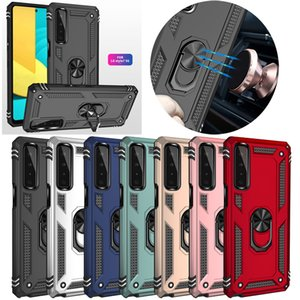 Hybrid Armor Ring Stand Magnetic Car Holder Shockproof Cases For LG Stylo 7 K92 K53 K22 Aristo 6 MOTO Fusion Plus E7 Power One 5G ACE G Play G9 Samsung A02S A52 A72