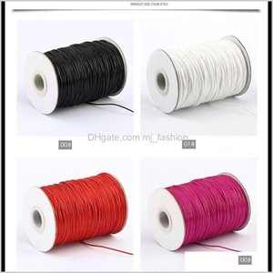 Cord & Components Jewelry Drop Delivery 2021 20 Colors 1Mm 200Yards Volume Waxed Wire Cotton Cordsstring Bracelet Sewing Leather Necklace Fin
