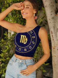 Women's Tanks & Camis 3D Tank Tops Scorpio Women Galaxy Midriff T Shirt Character Tees Graphic Novel Sleeveless Woman Clothes Slim