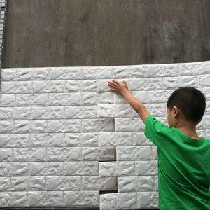 3D 벽 스티커 벽돌 패턴 방수 자기 자기 접착 벽지 룸 홈 장식 어린이 침실 생활 스티커 422 S2