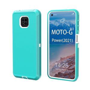 NOVOS METROPCS T-Mobile Capas para Moto Motorola G Power Stylus Play 2021 GPOWER GPLAY One ACE G 5G G9 Play Power Plus Triple Robot Combo Cinto Clipe Defender Case