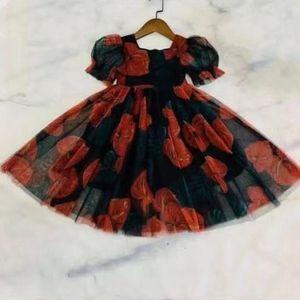 2021 very beautiful girls dress kids fashion girls party short sleeve flower children outfit