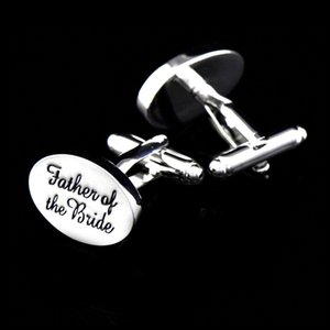 Button Ixiukou letter father of the bride metal Cufflinks   Wedding
