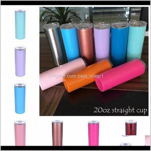 20Oz Stainless Steel Skinny Tumbler Vacuum Insulated Straight Cup Beer Coffee Mug Glasses With Lids And Straws Cca10386A 25Pcs Jz5Cm C Iu9Vq
