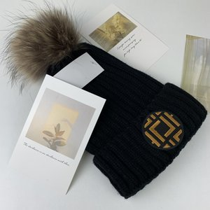 Bobble Hats Fashion Designer Bucket Hat Chunky Knit Faux Fur Pom Beanie Slouchy Beanies