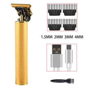Hair Trimmer For Man USB Rechargeable T-Outliner Hair Clipper Barber Shop Mens Shaver Trimmer Beard Hair Cutting Machine
