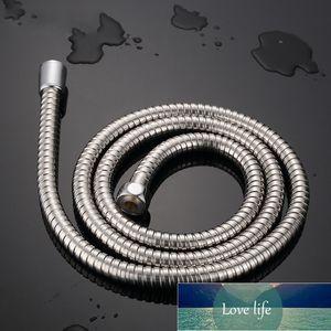 Stainless Steel Flexible Shower Hose 1m 1.2m 1.5 2m Long Bathroom Shower Water Hose Extension Plumbing Pipe Pulling Spring Tube