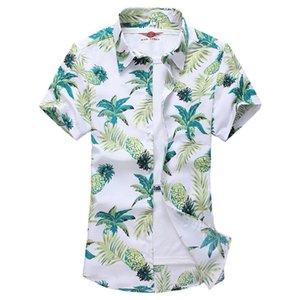 Camisas de lino de manga corta, fantasía de los hombres sueltos, casuales y hawaianas vacaciones nacionales, camisas de verano