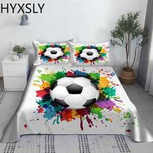 Sheets & Sets Soccer Football Bed Sheet Set Cartoon Digital Print Polyester Flat And Case 2 3pcs Bedding For Boys Teens Child