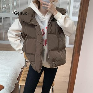 Warm Girls Loose Winter Vest Casual Women Thicken Sleeveless Outerwear Solid All Match Vintage Coats Women's Vests
