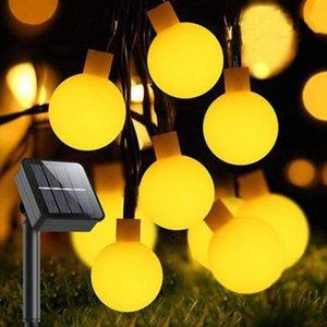 Solar Lamps 2021 LED Outdoor Lighting Strings Waterproof Garden Light String Multicolor Warm White white blue Lamp Chain For Christmas
