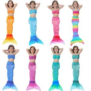 Çocuklar Kızlar Mermaid Kuyruk Yüzmek Ile Mayo Bikini Mayo Elbise Kız Giysileri Için Yüzme Cosplay Kostüm