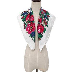 Muslim Flower Women Scarves Casual Folk-custom Square Scarf Wrap Shawl Travel Summer Soft Scarve Claquette Femme #T5P