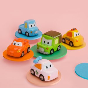 Educationl Baby Toy Cartoon Inertial Pull Back City Car Toys for Children Taxi Toy Fall Vehicle Model Mini Car Kids Toys Gifts