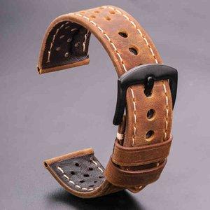 Bands Cow Watterbands 20 мм 22 мм Натуральная кожа Урожай Наручный Ремень Ремень для Samsung Galaxy Часы 46 мм