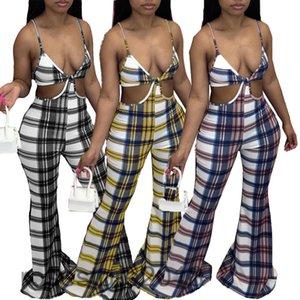 حار بيع 2021 المرأة بذلة مصمم الخامس الرقبة الصيف جديد أزياء المرأة منقوشة الطباعة فضفاضة الحمالة المتكلم السراويل عارضة السروال القصير