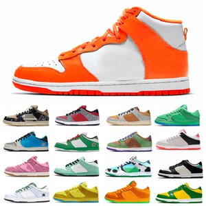 Fashion dunk Women Men Chicago Running Shoes Laser Orange Valentine Day Chunky Dunky Staple NYC Pigeon Mens Womens Sports Skate Trainers
